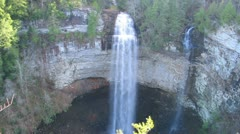 Timelapse Dolly Shot at Fall Creek Falls in Tennessee Stock Footage