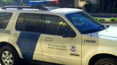 U.S. Customs and Border Patrol Vehicle Zoom 1 Stock Footage