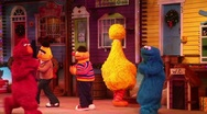 Stock Video Footage of Sesame Street Christmas show at Seaworld Orlando
