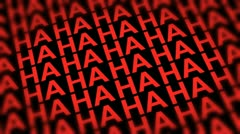 Comedy Laugh DOF Looping Red Background - stock footage
