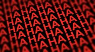 Stock Video Footage of Comedy Laugh DOF Looping Red Background