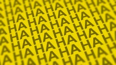 Comedy Laugh DOF Looping Yellow Background - stock footage