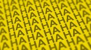 Stock Video Footage of Comedy Laugh DOF Looping Yellow Background