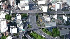 Traffic from high angle Stock Footage
