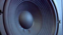 Speaker close side loop 10618 Stock Footage