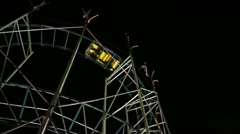 Classic Roller Coaster Low Left Perspective Stock Footage