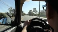 Young Man Learning to Drive Stock Footage
