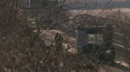 Fence at the border between north and south Korea Stock Footage