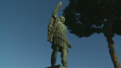 Caesar statue (full, mid, close up clips) Stock Footage