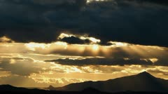 Sun Spotlights Time Lapse Stock Footage