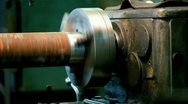 Spindle lathe Stock Footage