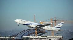 El Al Airlines Takeoff  HD Stock Footage