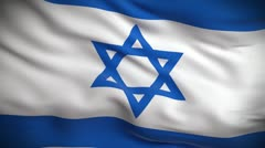 Israeli Flag HD. Looped. Stock Footage