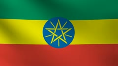 Ethiopia flag. Stock Footage