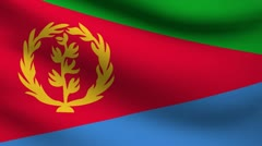 Eritrea flag. Stock Footage