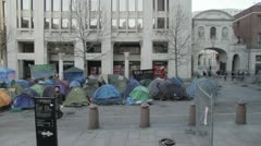 Occupy Wall Street Protest Camp in London Stock Footage