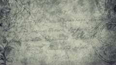 Vintage letter seamless background Stock Footage