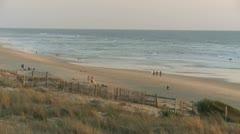 Lacanau Beach 01 - Atlantic Ocean Stock Footage