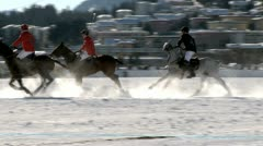 Polo on Ice in St. Moritz Stock Footage