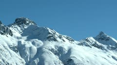 Mountaintop in the Engadin area - stock footage