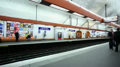 Paris metro timelapse Stock Footage
