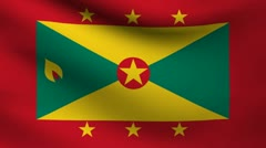 Grenada flag. Stock Footage