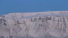 Icelandic Fjord, Passenger Plane Flying Stock Footage