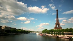Eiffel tower timelapse Stock Footage