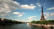 Eiffel tower timelapse Stock Footage