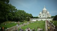 Sacre coeur cathedral timelapse Stock Footage
