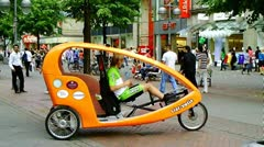 Bicycle Taxi Hannover Germany Stock Footage