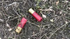 Hunting shotgun ammunition Stock Footage