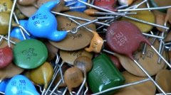 A capacitor pile - stock footage