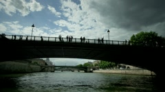 Paris river tour timelapse Stock Footage