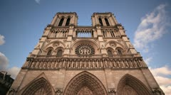 Notre Dame Cathedral timelapse Stock Footage