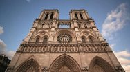 Stock Video Footage of Notre Dame Cathedral timelapse
