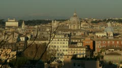 Rome view (1) - stock footage