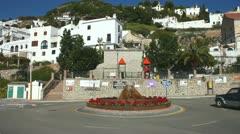 Road junction in the village of Frigiliana in Spain Stock Footage