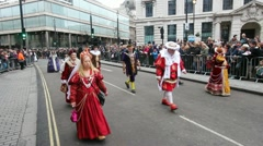 New Year Parade London Stock Footage