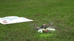 Toy helicopter on the remote control Stock Footage