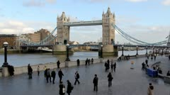 London southbank Reversed Playback Stock Footage