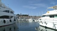 Stock Video Footage of Cannes Harbor