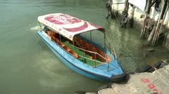 Boat in Hong Kong Stock Footage