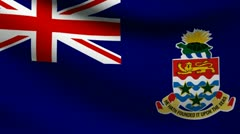 Cayman Islands flag. Stock Footage