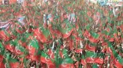 PTI Rally in Karachi, Pakistan Stock Footage