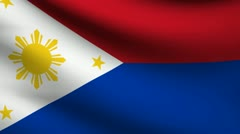 Philippines flag. Stock Footage