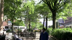 New York City Park - stock footage
