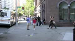 New York City Street - stock footage
