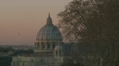 St Peters Dome, Vatican Stock Footage