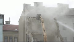 House demolition in Vienna Stock Footage